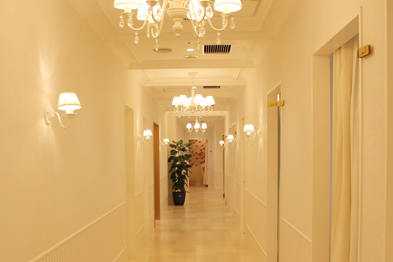 アリシアクリニックの廊下